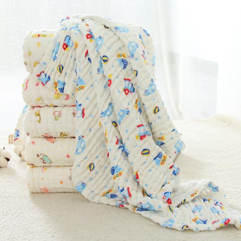 Mantas de muselina para bebés Envoltura de envoltura de algodón - Ropa de cama - foto 4