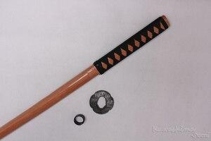 Image 5 - Épée en bois de 100cm/ 39.37 pouces, pour Cosplay, pour pratiques décoratives, avec gaine en PU, flambant neuf