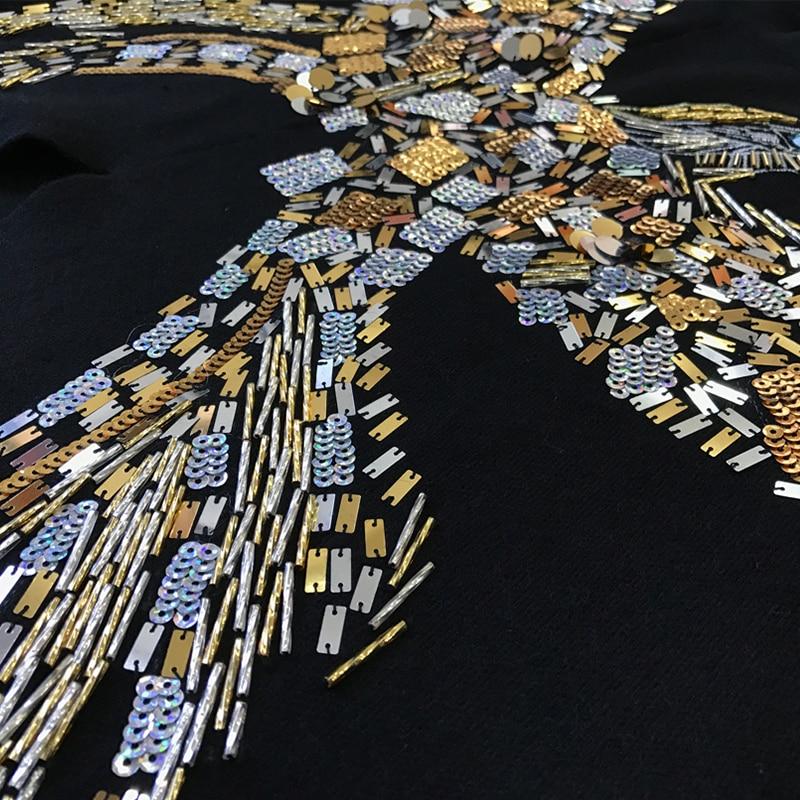 Angleterre Gamme Marque Luxe Knittedcloak Chandail Kenvy À Manteau Aigle Mode Haut Femmes La Paillettes De Main Châle Broderie t7BdWqCcw