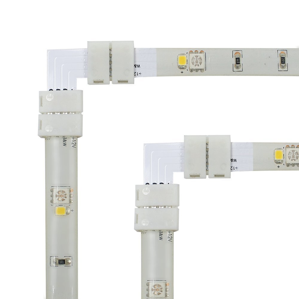 5PCS/lot L-shape 2-conductor Quick Splitter Right Angle Corner for 3528 SMD Non-waterproof LED Flexible Strip Lights