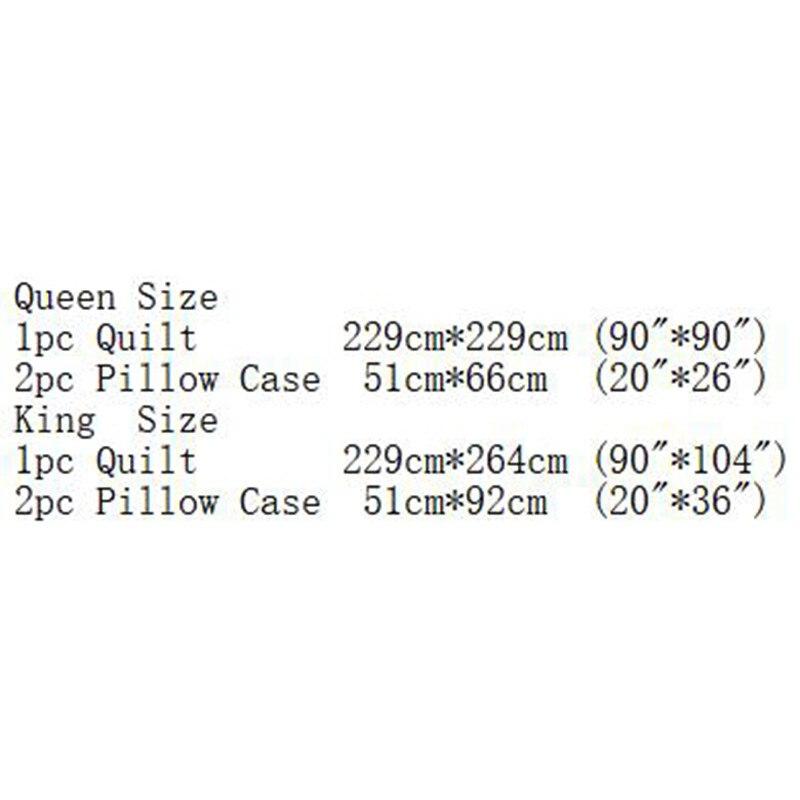 3 sztuk/partia pomarańczowy kolor kołdra poliestrowa zestawy pościeli królowej King Size podwójne łóżko krótki styl kratę narzuta narzuta zestawy XF489 w Zestawy pościeli od Dom i ogród na  Grupa 2
