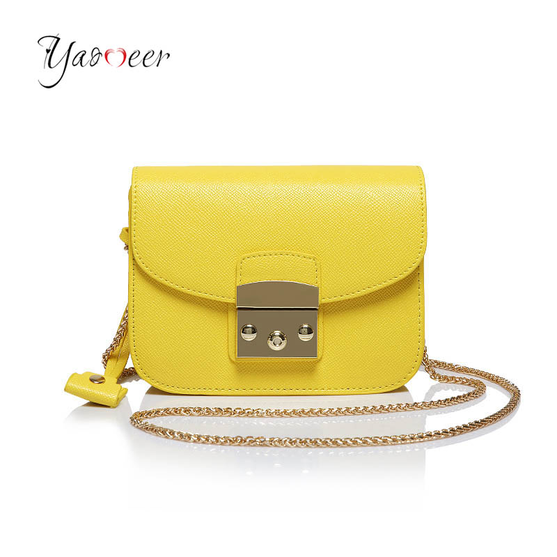 0ee4f8840 Moda mini cadena Messenger Bag señoras pu cuero señora Bolsos de hombro mano  Bolsas famosa marca crossbody bolso para las mujeres T300