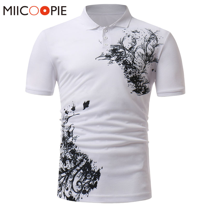 Summer Men Floral   Polo   Shirt Male Fashion Breathable Flower Print   Polo   Homme Solid Color Slim Short Sleeve   Polo   Shirt Camisas