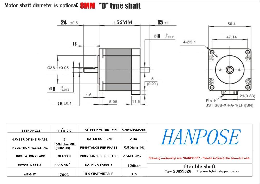 nema23 stepping motor para cnc