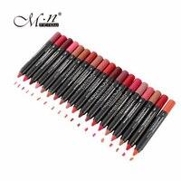19 Colors Lot MENOW Nonstick Cup Not Fade Lip Pencil Soft Lipstick Lip Makeup Durable Kissproof