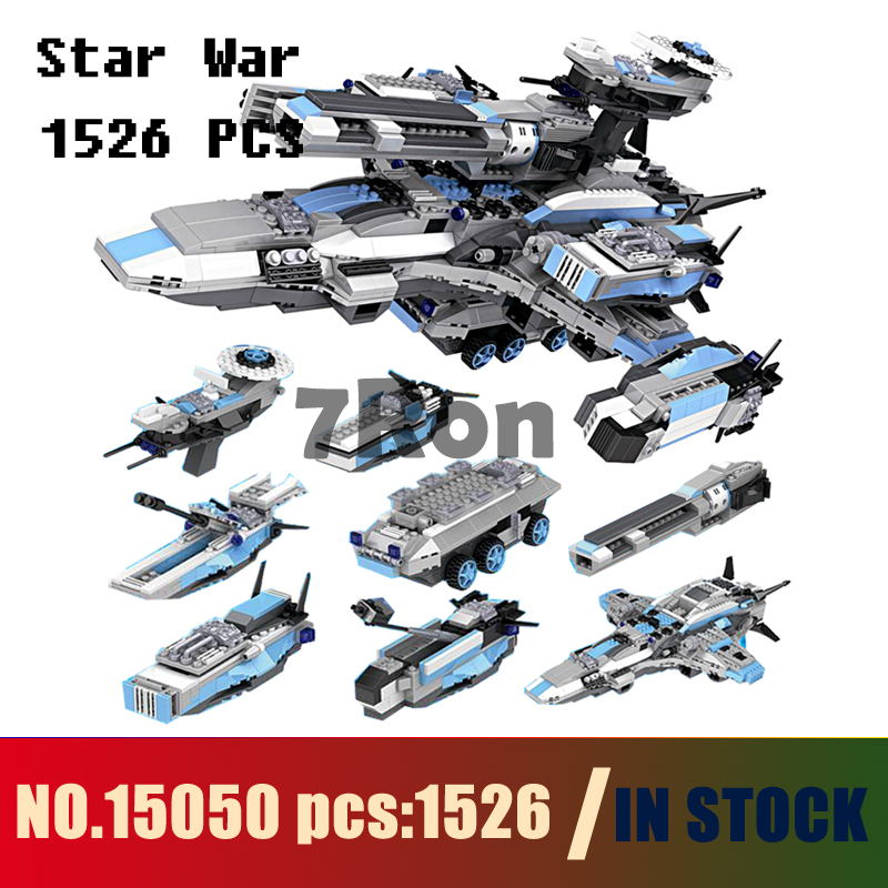 Models building toy 15050 1526pcs 8in1 Military Star Wars Spaceship Aircraft Building Blocks Compatible with lego toys & hobbies 2015 high quality spaceship building blocks compatible with lego star war ship fighter scale model bricks toys christmas gift