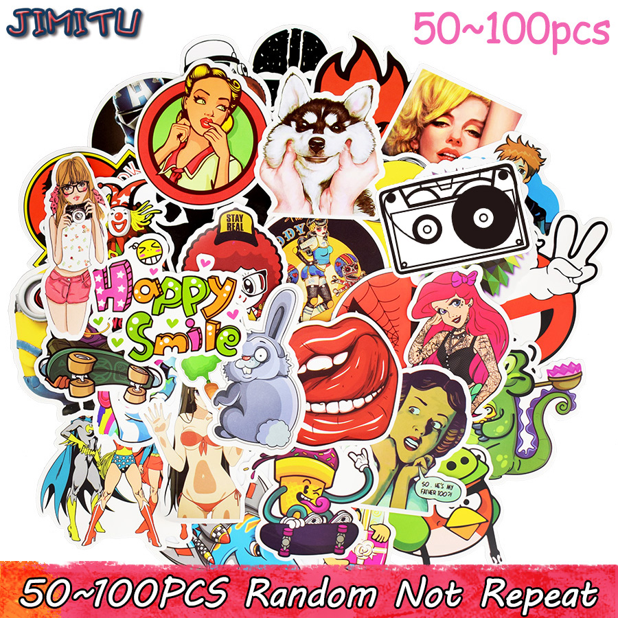 50-100pcs Random Stickers Mixed Funny Cartoon Graffiti Stickers for Children DIY Sticker on Laptop Car Luggage Skateboard Fridge godox v860ii v860iic ttl hss 1 8000s li battery camera flash speedlite 2 4g with x1t c softbox for canon 60d 650d 80d dslr gift