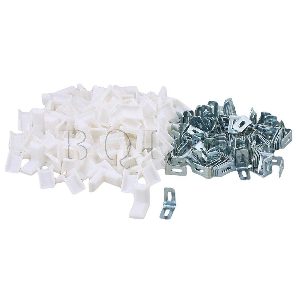 BQLZR 28x28x18mm L Shape Steel Plastic Corner Braces Angle Bracket 90 Degree for Cabinet Cupboard Pack of 100 2pieces diy bqlzr 9 1cmx10 7x4 9cm black plastic left