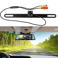 Universal Square Shape Car Rear Reverse License Plate Parking Rearview Backup Camera 1 4 Inch Color