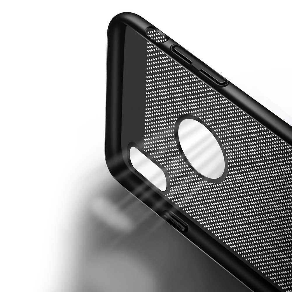 الترا سليم الهاتف حقيبة لهاتف أي فون 6 6 s 7 8 زائد الجوف الحرارة تبديد حالات الصلب PC ل فون 5 5 S SE الغطاء الخلفي كوكه X S ماكس