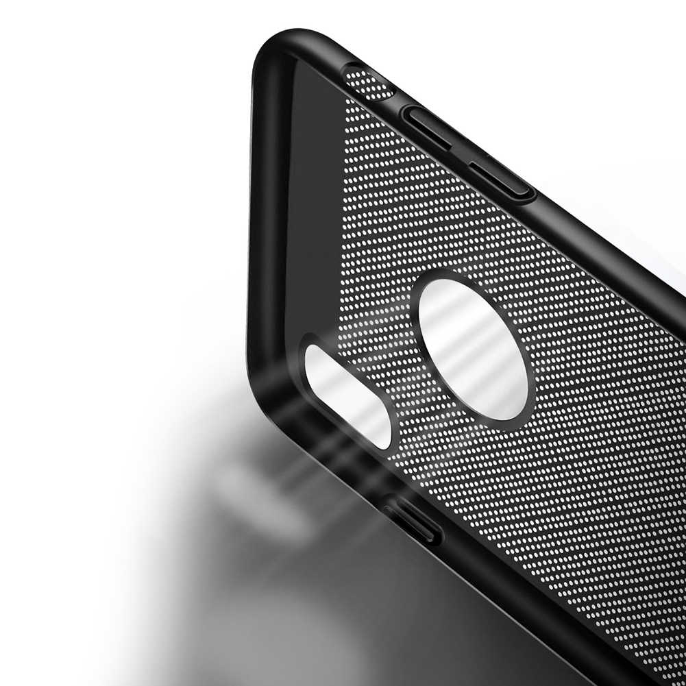Ultra Slim Ponsel Case untuk iPhone 6 6 S 7 7 Plus Hollow Disipasi Panas Kasus Keras PC untuk iPhone 5 5 S SE Back Cover Coque X S MAX