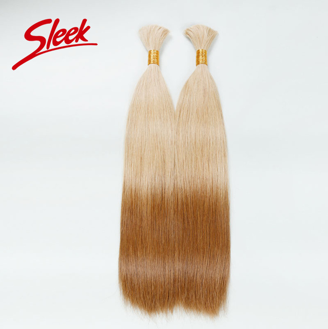 Sleek Colorful Bulk Hair Weaving For White People, Two Tone Ombre Human Hair, Best Quality Brazilian Hair Bundles Aliexpress UK