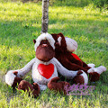 Big Size 60cm New Germany Jungle Brother Red Love Heart Monkey Plush Toy 1pcs Free Shipping Valentine's Day Christmas Gifts