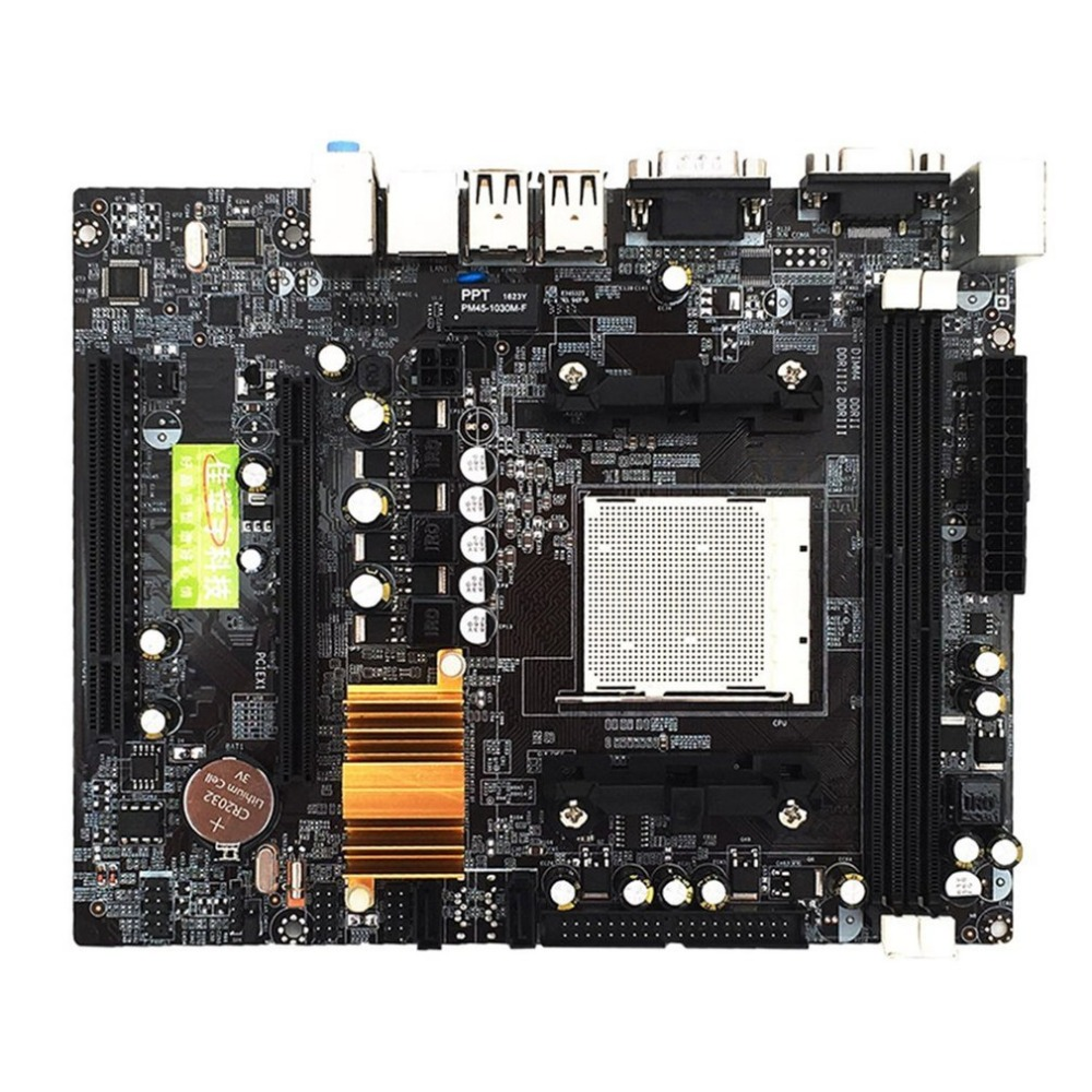 High Quality N68 C61 Desktop Computer Motherboard Support for AM2 for AM3 CPU DDR2+DDR3 Memory Mainboard With 4 SATA2 Ports nf61s micro am2 se c61 motherboard fully integrated small plate 100