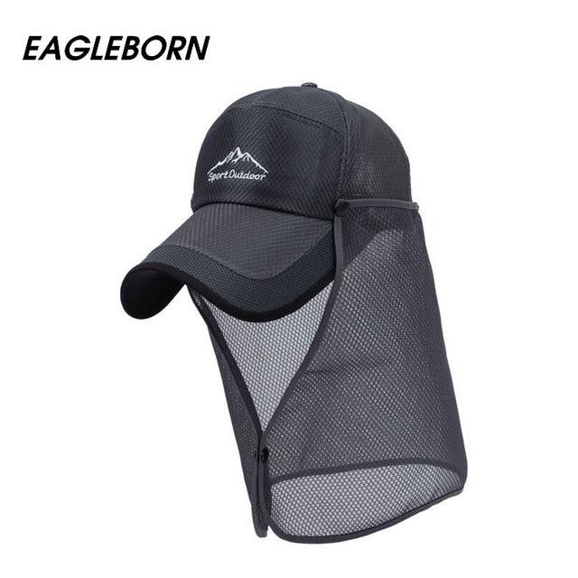 EAGLEBORN 2017 New Mesh Baseball Cap Men Women Summer Sun Hat Quick Dry Breathable Mesh chapeu Casual Sports Snapback Mesh Caps