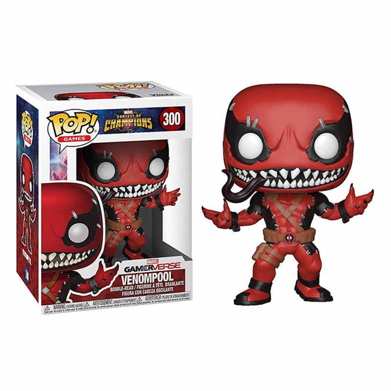 FUNKO POP Figura Meraviglia giocattolo Venompool Morte Venom Deadpool Action pvc Figure Collection giocattoli di Modello per i bambini regalo di compleanno