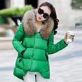 Inverno Mulheres Jaqueta de Algodão Marca de Moda Gola De Pele Com Capuz Engrossar Quente Casaco de Inverno Mulheres Parka Casacos Femininos de Alta Qualidade b138