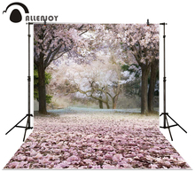 Allenjoy photography backdrop forest Tree purple flower leaves baby shower children background photo studio photocall