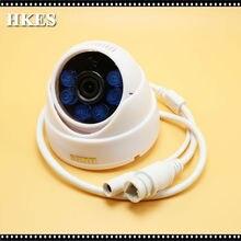 2pcs/lot Indoor 1280 x 720p 1.0MP 6LED IR Dome IP Camera CCTV Camera ONVIF Night Vision P2P IP Security Camera Free Shipping