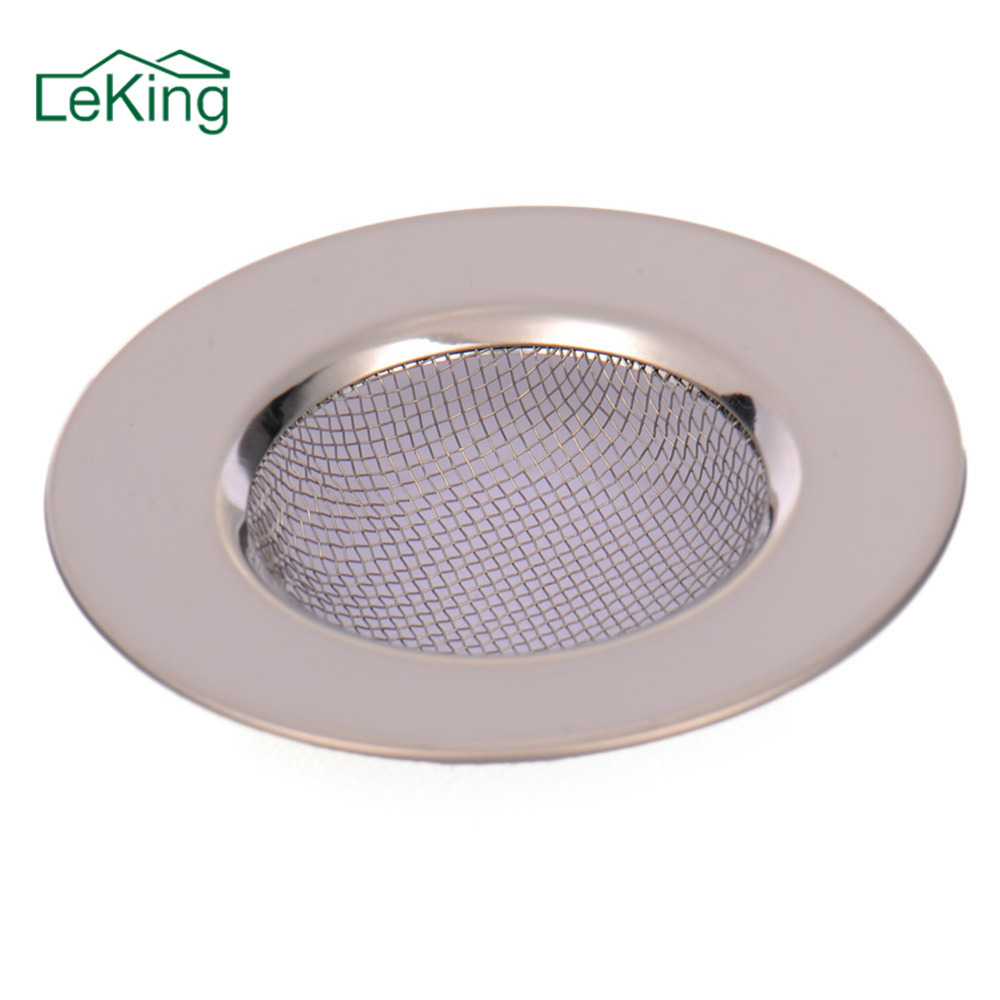 Stainless Steel Kitchen Sink Strainer Hair Catcher Stopper Shower Drain Hole Filter Trap Metal Sink Filter Bathroom Pool Filter