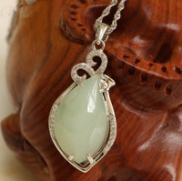 Fine jewelry, female natural stone and tian yu pendant, 925 pure silver wholesale/29