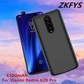 ZKFYS 6500 мАч Ультра тонкое быстрое зарядное устройство крышка батареи для Xiaomi Redmi K20 Pro Высокое качество портативный Банк питания батарея Чехол