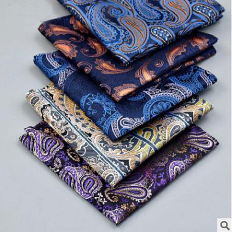 He Latest Version Of Pocket Towel Men Paisley Pattern Suit Dress Square Handkerchief Male Cashew Flower Series