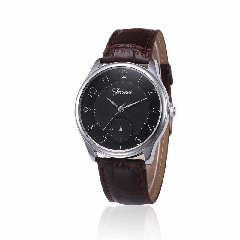 Reloj de 2019 para hombre, nuevo Reloj de moda, marca de lujo, diseño Retro, cuero de alta calidad, Simple, Reloj Masculino