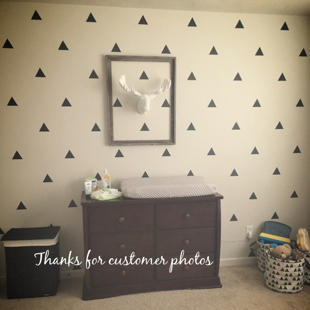 Triangle Wall Sticker iWall-klistremerke Baby Nursery Triangles Veggoverføringsbilde Avtagbar Kids Room Easy Wall Art DIY Cut Vinyl P4