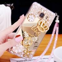 2017 Luxury Girl Woman Lady Soft TPU Plating Mirror Diamond Cover Case For Samsung Galaxy J1