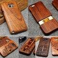 Caja de madera para iPhone X XR XS Max 8 7 6 6 S 8 Plus 5 5S caso además de caso de teléfono iPhone para Samsung Galaxy S8 S9 más S5 S6 S7 borde Nota 9 8 3 4 5