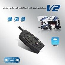 Motorcycle Helmet Bluetooth Walkie-talkie V2-500 Smart Full Duplex Real-time Stereo Waterproof Windproof