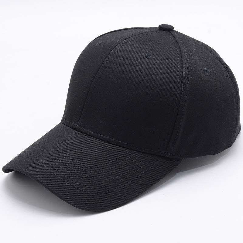 PLAIN NAVY BLUE SNAPBACK COTTON CAP