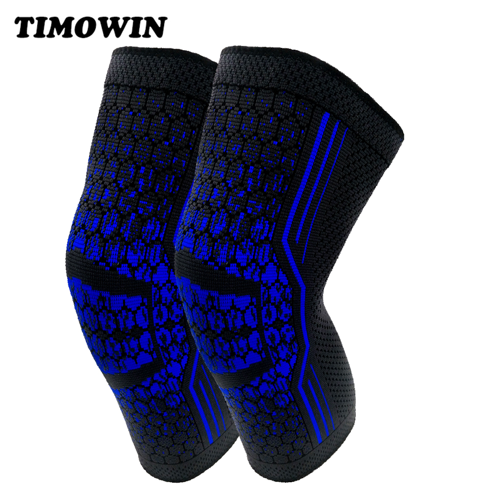 1 Pair Non Slip Silicone Knee Pads Sleeve TIMOWIN Knee Warm Protect Support Kneepad for Fitness Running Riding Joint Pain Relief