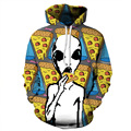 2017 New Hoodie Men Sweatshirts Cool Corpse Print Pullover Couples Hoody Tracksuit Hip Hop Hooded Steetwear Clothing S-3XL Size