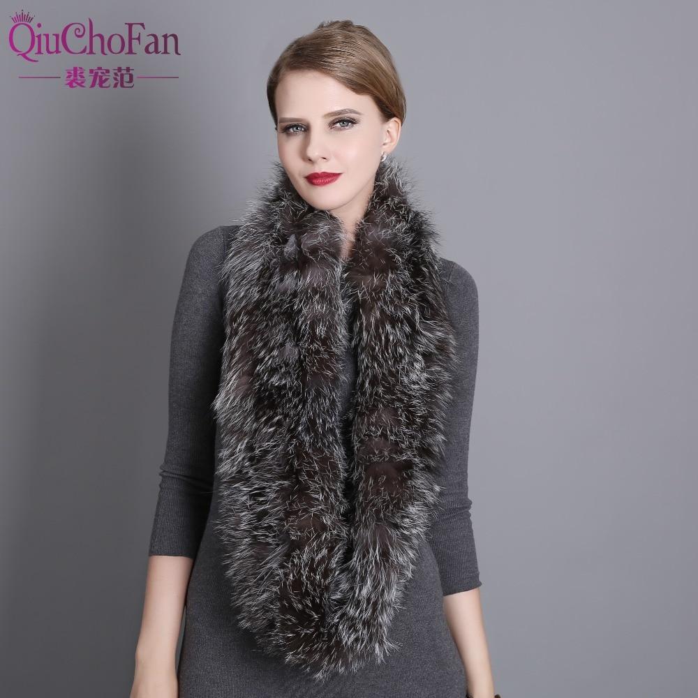 US $41.25 45% OFF|100% natürliche Pelz Schal Luxus Silber Fuchs Pelz Kragen Schal Frauen Real Fox Kragen Unten Tragen Schal Großhandel in Damenschals
