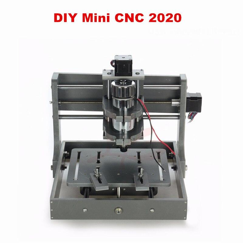 2017 bricolage CNC cadre 2020 avec moteur CNC gravure forage et fraiseuse