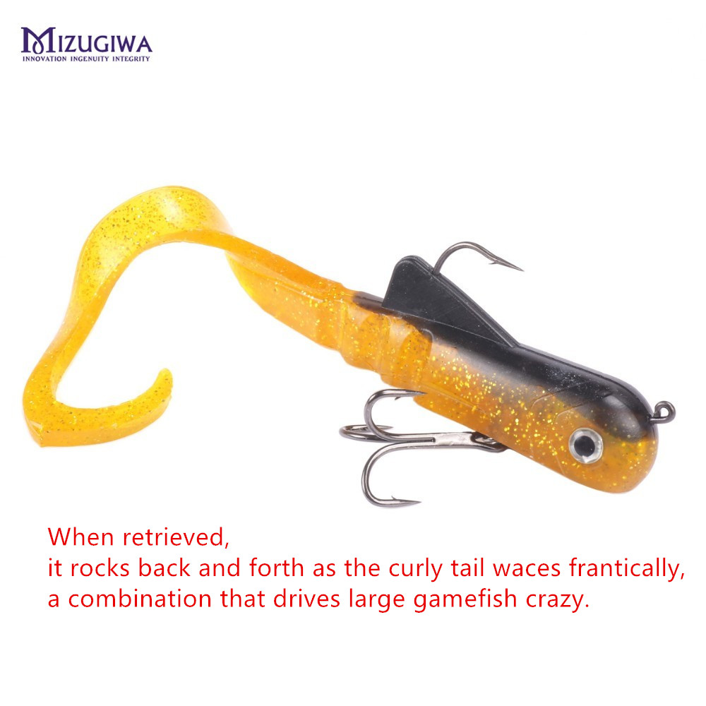 Soft Lure Fishing Soft Bait Freshwater Curly Shad Fishing Tackle Bulldog Lures Color 1