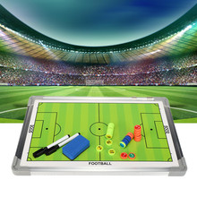 Portable Soccer Football Tactical Board Training Guidance Double-Sided Magnetic Buttons Aluminum Alloy Frame+PVC 44.5x29.5x2cm