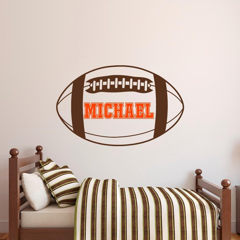 Aliexpress.com : Buy American Football Name Wall Decal