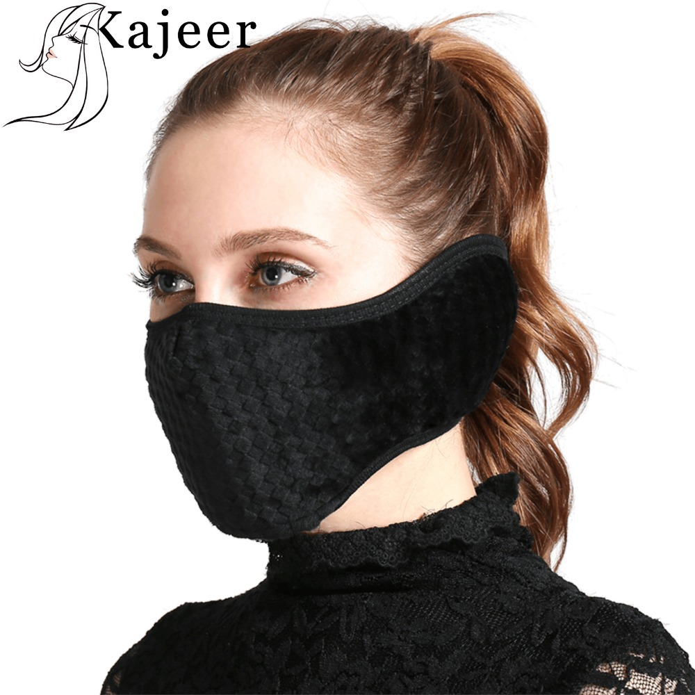 Nylon Fastener Tape Mouth Mask Anti Haze Dust Mouth Face Mask With Earmuff Mask For Mouth Windproof Ear Protective Winter Warm