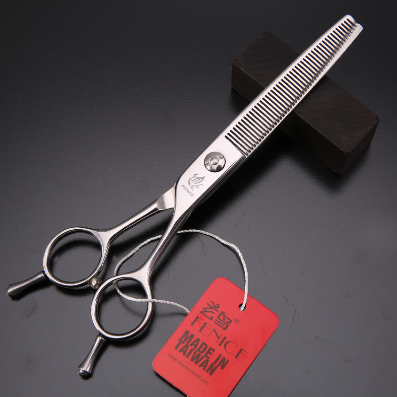 Fenice Professional JP440c 6.25 inch 46 teeth Pet dog Grooming thinning shears Scissors