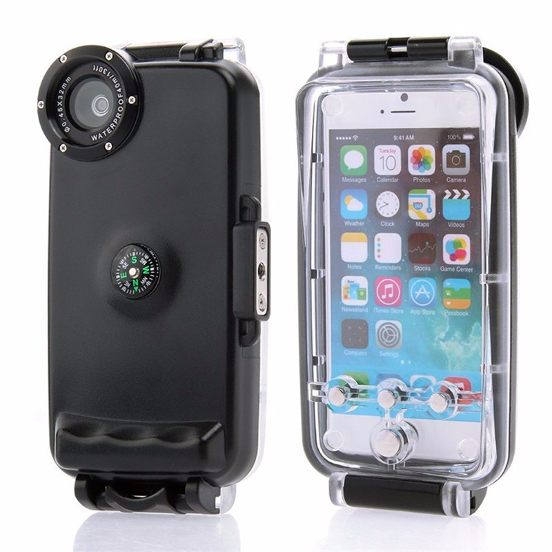 40M Diving Waterproof Case for iPhone 6 6S Plus Plastic Waterproof Phone Bag Cover for Swimming