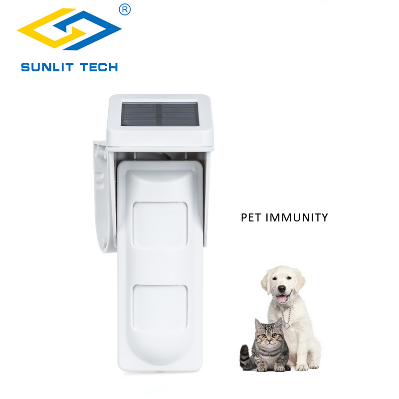 Wireless Solar PIR Motion Sensor Pet immunity Dual pir Sensor 433MHz Outdoor Infrared Detector for Home Security Alarm System цена