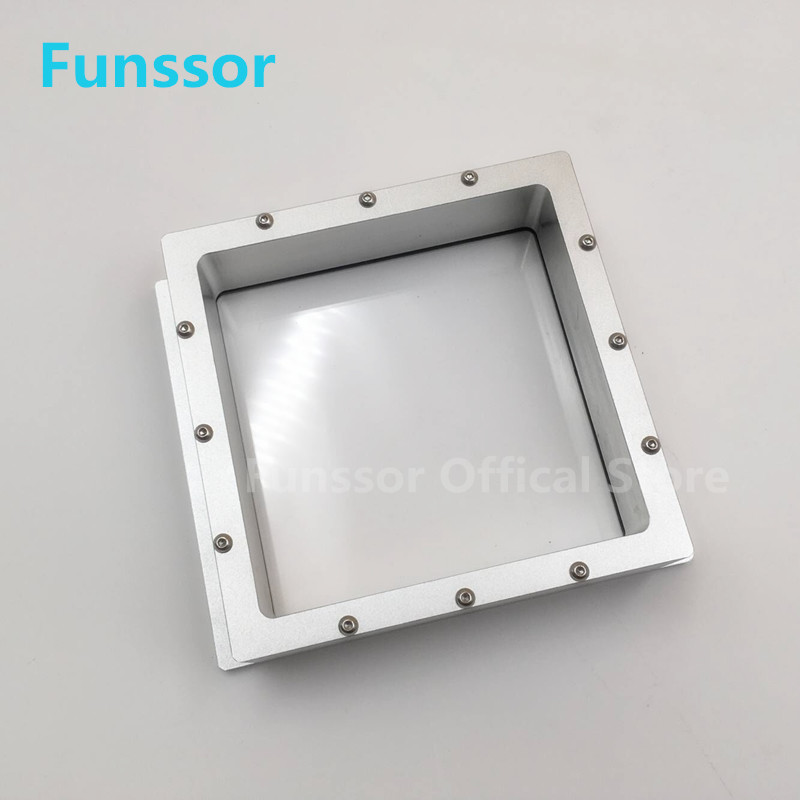 Funssor 115 *115 mm aluminum alloy Resin Tank High transmittance quartz glass resin tank For DIY SLA DLP 3D printer