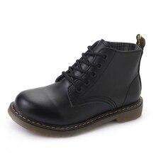 2017 женские ботильоны Кружево модные ботинки на шнуровке dr ботинки Martin Водонепроницаемый ботинки в западном стиле женские повседневные ботильоны в ковбойском стиле размер 35-40