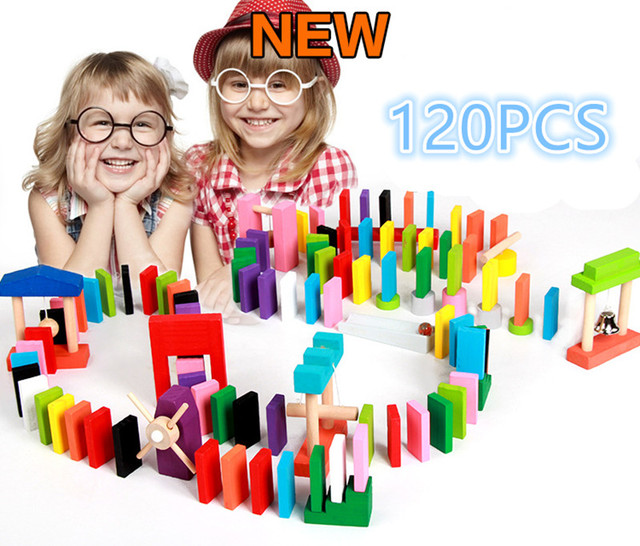 WHOLESALE Fashion 120pcs Wooden Kids Toy Bright Coloured Tumbling ...