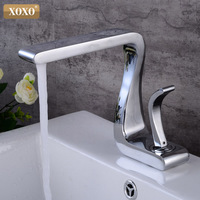 XOXO Basin Faucet Hot and Cold Chrome Brass Single Handle Basin Mixer Tap Deck Mounted Bathroom Faucets Sink Faucet 21035