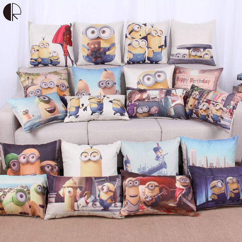 Super Hot Cartoon Minion Child Bed Cushion With No Core Home Decor Emoticon Sofa Throw Pillow For Chair Emoji Funda Cojin HH1456