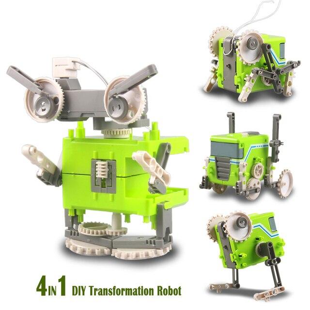 Diy 4in1 Self Assembly Transformation Robotics Trailers Cricket
